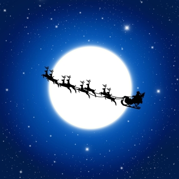 Skywatching: Moon-Regulus at the Evening - Mars, Arcturus and Spica Before Sunrise Santa-Claus-Reindeer-LaFontaine
