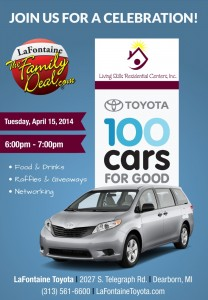 LSRC-LaFontaine-Toyota-100-Cars-For-Good-Flyer