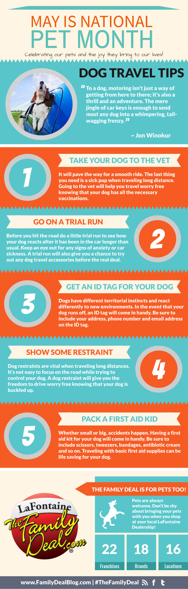Dog Travel Tips Inforgaphic