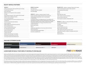 2015 Chevrolet Malibu Spec Sheet