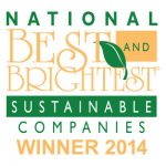 National Best and Brightest Sustainable Companies 2014 logo