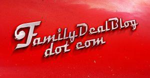 FamilyDealBlog.com vintage car logo
