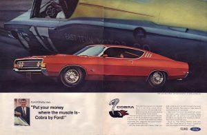 1969 Ford Cobra Vintage Magazine Ad