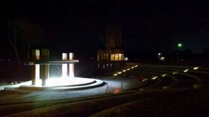 LaFontaine Family Amphitheater at night