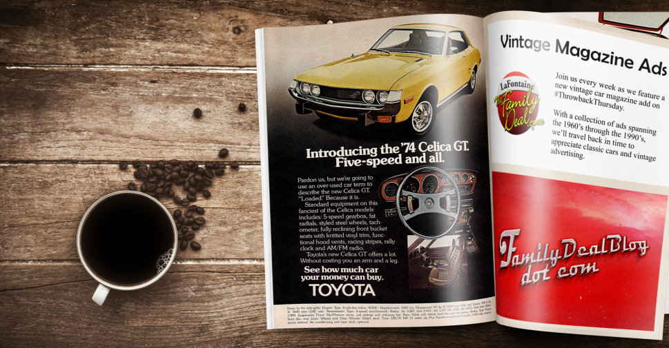 1974 Toyota Celica Vintage Magazine Ad | The Family Deal Blog