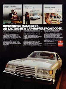 1978 Dodge Magnum Vintage Magazine Ad
