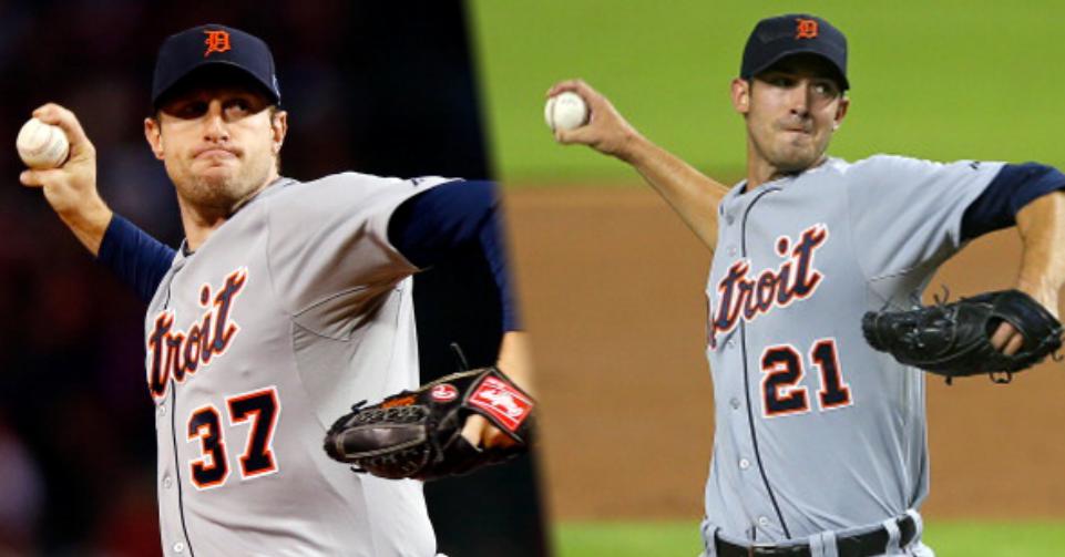 Max Scherzer and Rick Porcello Detroit Tigers