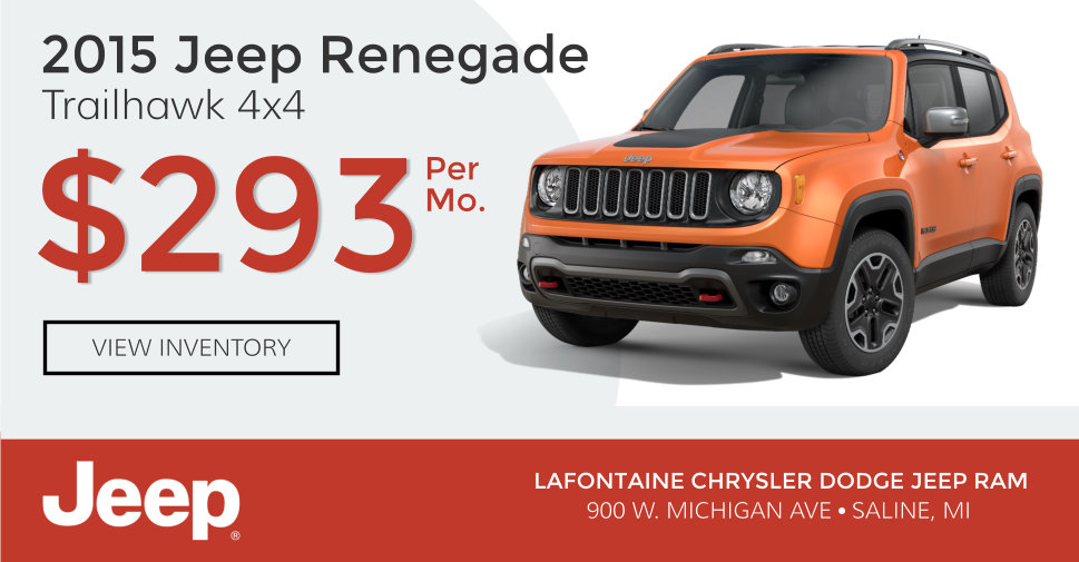2015 Jeep Renegade Trailhawk 4x4 Lease Special