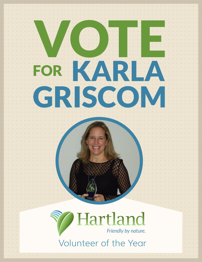 Karla Griscom Hartland Volunteer of the Year