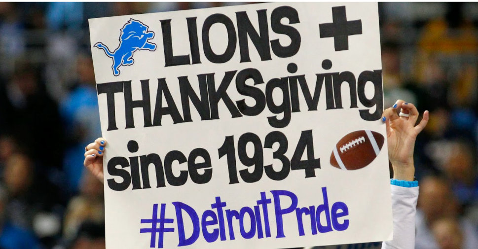 The Detroit Lions have been playing football on Turkey Day since 1934