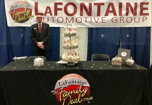 LaFontaine booth at Northwood Unversity Job Fair with Development Manager