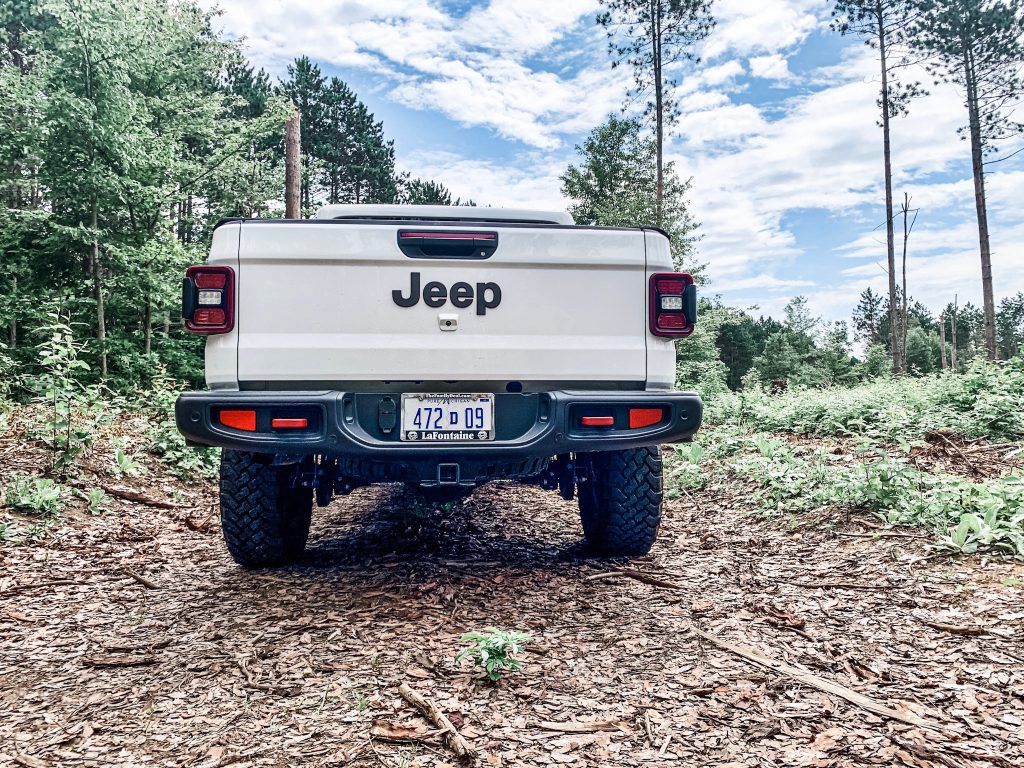 Jeep Gladiator Rubicon in Forest in Michigan